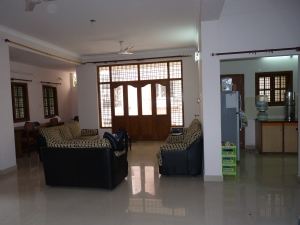 Vista da sala, espaço comum da casa